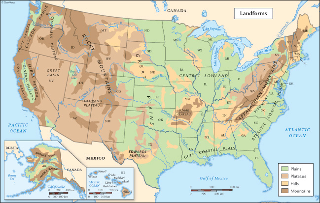 State Information Ms Hardings Class - Map of northeast us bodies of water